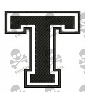 Embroidered Patch LETTER T