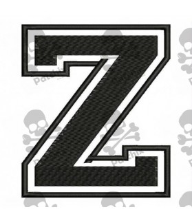 Embroidered Patch LETTER Z