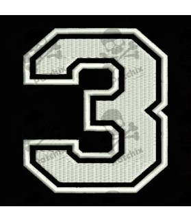 Embroidered Patch NUMBER THREE