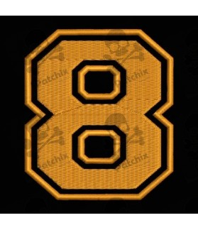 Embroidered Patch NUMBER EIGHT